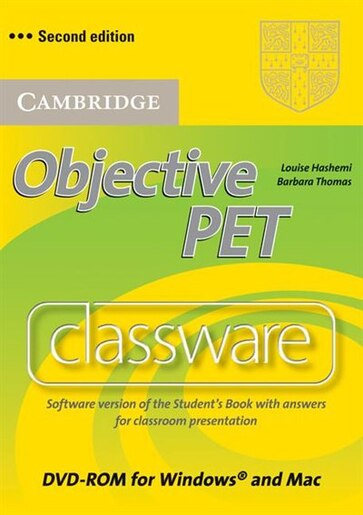 Objective PET Classware DVD-ROM with answers de Louise Hashemi