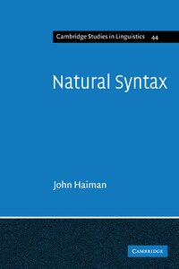 Natural Syntax: Iconicity and Erosion