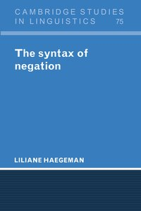 The Syntax Of Negation
