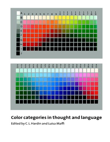 Color Categories In Thought And Language by C. L. Hardin