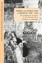 Family and Public Life in Brescia, 1580-1650: The Foundations of Power in the Venetian State