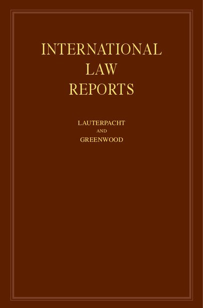International Law Reports by E. Lauterpacht