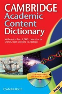 Cambridge Academic Content Dictionary Paperback with CD-ROM by N/A