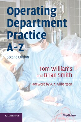 Book Operating Department Practice A-Z by Tom Williams