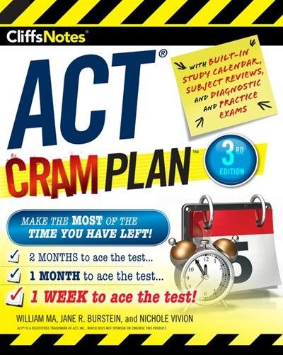 Cliffsnotes Act Cram Plan, 3rd Edition de William Ma