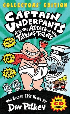 Book Captain Underpants and the Attack of the Talking Toilets (Collectors' Edition): The Second Epic… by Dav Pilkey