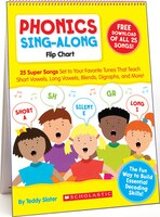Phonics Sing-Along Flip Chart & CD: 25 Super Songs Set to Your Favorite Tunes That Teach Short…
