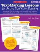 Text-Marking Lessons for Active Nonfiction Reading Grades 4-8: Reproducible Nonfiction Passages…
