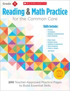Reading and Math Practice: Grade 1: 200 Teacher-Approved Practice Pages to Build Essential Skills