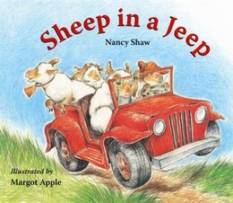 Book Sheep in a Jeep Lap-Sized Board Book by Margot Apple