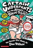 Book Captain Underpants and the Attack of the Talking Toilets: The Second Epic Novel by Dav Pilkey