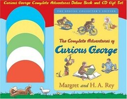 Book Curious George Complete Adventures Deluxe Book and CD Gift Set by H. A. Rey
