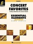 Concert Favorites Vol. 1 - Bb Trumpet: Essential Elements 2000 Band Series