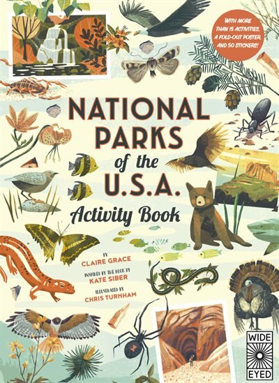 National Parks Of The Usa: Activity Book: With More Than 15 Activities, A Fold-out Poster, And 50 Stickers! by Kate Siber