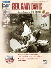 Stefan Grossman's Early Masters Of American Blues Guitar: Rev. Gary Davis, Book And Cd