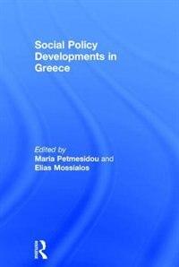 Social Policy Developments In Greece