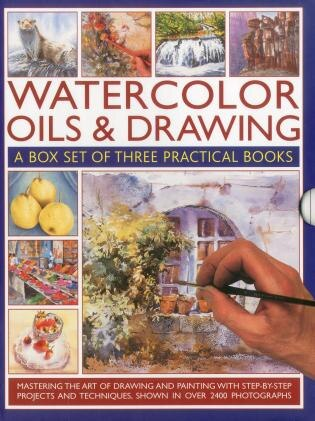 Watercolor Oils & Drawing Box Set: Mastering the art of drawing and painting with step-by-step projects and techniques shown in over 1 by Ian Sidaway