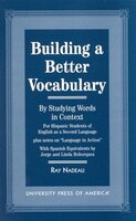 Book Building a Better Vocabulary: By Studying Words in Context by Ray Nadeau