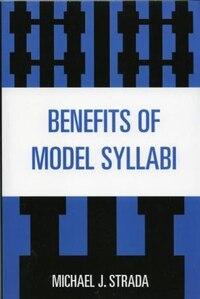 Benefits Of Model Syllabi
