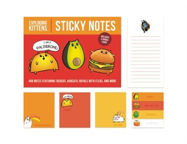 Exploding Kittens Sticky Notes: 488 Notes Featuring Cattermelon, Tacocat, Avocato, And More by Exploding Kittens