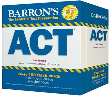 Barron's ACT Flash Cards: 410 Flash Cards to Help You Achieve a Higher Score by James D. Giovannini