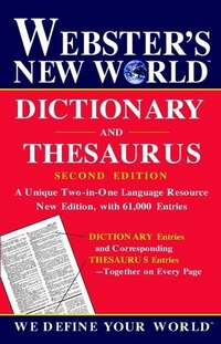 Webster's New World Dictionary and Thesaurus, 2nd Edition