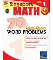 singapore Math 70 Must-know Word Problems, Level 1, Grade 2