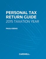Personal Tax Return Guide, 2015 Taxation Year