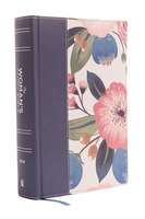 Niv, The Woman's Study Bible, Cloth Over Board, Blue Floral, Full-color, Red Letter: Receiving God…