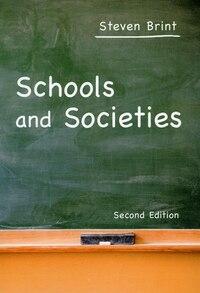 Schools And Societies: Second Edition