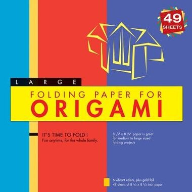 """Folding Paper For Origami - Large 8 1/4"""" - 49 Sheets: Tuttle Origami Paper: High-quality Large Origami Sheets: Instructions For 6 Projects Included by Tuttle Publishing"""