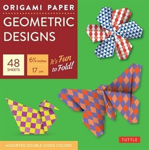 """Origami Paper - Geometric Prints - 6 3/4"""" - 49 Sheets: Tuttle Origami Paper: High-quality Origami Sheets Printed With 6 Different Patterns: Instructions F by Tuttle Publishing"""