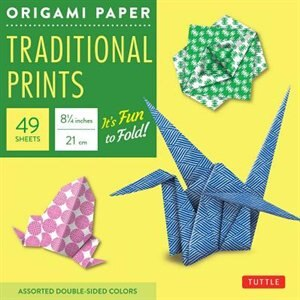 """Origami Paper - Traditional Prints - 8 1/4"""" - 49 Sheets: Tuttle Origami Paper: High-quality Large Origami Sheets Printed With 6 Different Patterns: Instruct by Tuttle Publishing"""