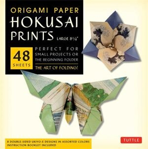 "Origami Paper - Hokusai Prints - Large 8 1/4"" - 48 Sheets: Tuttle Origami Paper: High-quality Double-sided Origami Sheets Printed With 8 Different Designs (in by Tuttle Publishing"