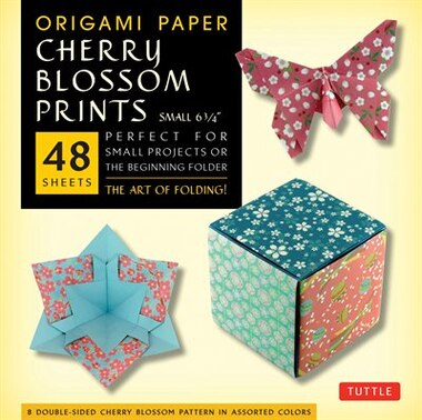 """Origami Paper- Cherry Blossom Prints- Small 6 3/4"""" 48 Sheets: Tuttle Origami Paper: High-quality Origami Sheets Printed With 8 Different Patterns: Instructions F by Tuttle Publishing"""