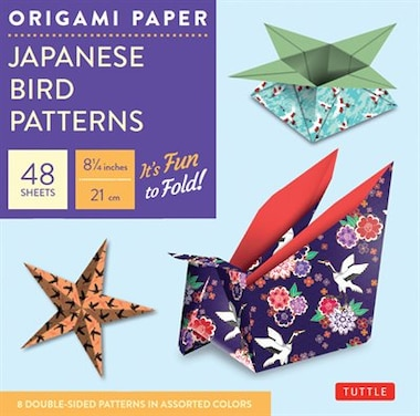 "Origami Paper - Japanese Bird Patterns - 8 1/4"" - 48 Sheets: Tuttle Origami Paper: High-quality Origami Sheets Printed With 8 Different Designs: Instructions Fo by Tuttle Publishing"