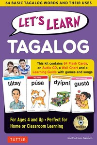Let's Learn Tagalog Kit: 64 Basic Tagalog Words And Their Uses (flashcards, Audio Cd, Games & Songs…