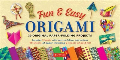 Fun & Easy Origami Kit: 29 Original Paper-folding Projects: Includes Origami Kit With 2 Instruction Books & 98 High-quality by Florence Temko