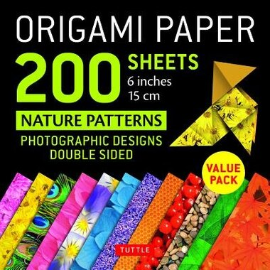 "Origami Paper 200 Sheets Nature Patterns 6"" (15 Cm): Tuttle Origami Paper: High-quality Double Sided Origami Sheets Printed With 12 Different Designs (i by Tuttle Publishing"