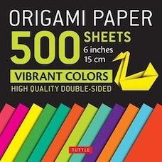 """Origami Paper 500 Sheets Vibrant Colors 6"""" (15 Cm): Tuttle Origami Paper: High-quality Double-sided…"""