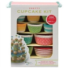 Pretty Cupcake Kit: Decorate Your Cupcakes Instantly with Beautiful Liners, Flag Toppers, and…