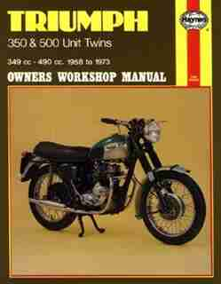 Triumph 350 and 500 Unit Twins Owners Workshop Manual, No. 137: '58-'73 by John Haynes