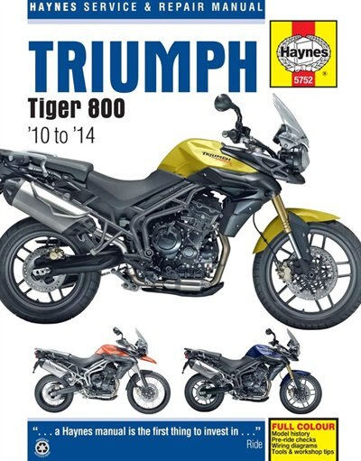 Triumph Tiger 800/800xc, '10-'14 by Haynes Publishing