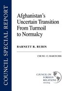 Afghanistan's Uncertain Transition From