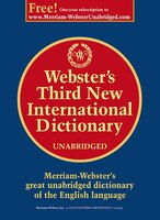 Book Webster's Third New International Dictionary, Unabridged by N/A Merriam-Webster, Inc.