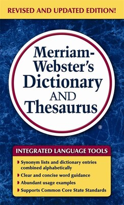 Book Merriam-Webster's Dictionary and Thesaurus by Merriam-Webster, Inc.