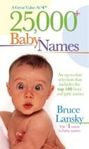 Book 25,000+ Baby Names by Bruce Bruce Lansky