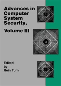 Book Advances In Computer System Security, Vol. 3 by Rein Turn