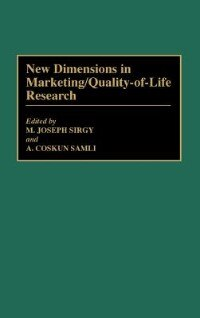 Book New Dimensions In Marketing/quality-of-life Research by M. Joseph Sirgy