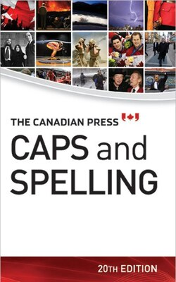 Book The Canadian Press Caps and Spelling by James McCarten